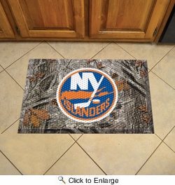 "Fan Mats 19159  NHL - New York Islanders 19"" x 30"" Scraper Mat - Camo Design"