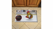 "Fan Mats 19162  NHL - Ottawa Senators 19"" x 30"" Scraper Mat - Puck Design"