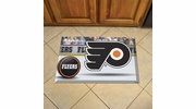 "Fan Mats 19164  NHL - Philadelphia Flyers 19"" x 30"" Scraper Mat - Puck Design"