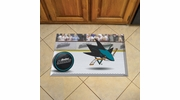 "Fan Mats 19170  NHL - San Jose Sharks 19"" x 30"" Scraper Mat - Puck Design"