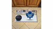 "Fan Mats 19176  NHL - Toronto Maple Leafs 19"" x 30"" Scraper Mat - Puck Design"