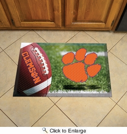 "Fan Mats 19186  Clemson University Tigers 19"" x 30"" Scraper Mat - Ball Design"