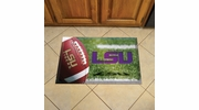 "Fan Mats 19190  Louisiana State University Tigers 19"" x 30"" Scraper Mat - Ball Design"