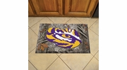 "Fan Mats 19191  Louisiana State University Tigers 19"" x 30"" Scraper Mat - Camo Design"