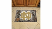 "Fan Mats 19195  University of Notre Dame Fighting Irish 19"" x 30"" Scraper Mat - Camo Design"