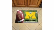 "Fan Mats 19220  University of Michigan Wolverines 19"" x 30"" Scraper Mat - Ball Design"