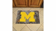 "Fan Mats 19221  University of Michigan Wolverines 19"" x 30"" Scraper Mat - Camo Design"