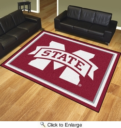 Fan Mats 19240  Mississippi State University Bulldogs 8' x 10' Area Rug