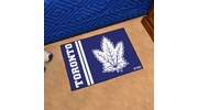 "Fan Mats 19278  NHL - Toronto Maple Leafs 19"" x 30"" Starter Mat"