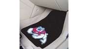 "Fan Mats 19283  Fresno State Bulldogs 17"" x 27"" 2-pc Carpet Car Mat Set"