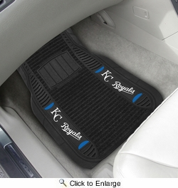 "Fan Mats 19321  MLB - Kansas City Royals 21"" x 27"" Deluxe Car Mat Set"