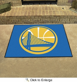 "Fan Mats 19440  NBA - Golden State Warriors 33.75"" x 42.5"" All Star Mat"