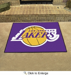 "Fan Mats 19448  NBA - Los Angeles Lakers 33.75"" x 42.5"" All Star Mat"