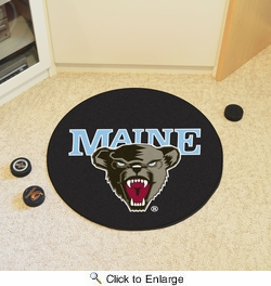 "Fan Mats 19512  University of Maine Black Bears 27"" diameter Puck Mat"