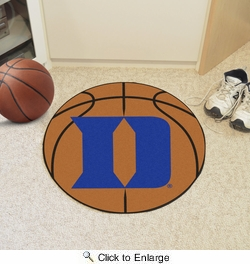 "Fan Mats 19572  Duke University Blue Devils 27"" diameter Basketball Mat"