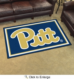 Fan Mats 19664  University of Pittsburgh Panthers 4' x 6' Area Rug