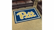 Fan Mats 19665  University of Pittsburgh Panthers 5' x 8' Area Rug