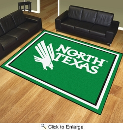 Fan Mats 19699  University of North Texas Mean Green 8' x 10' Area Rug