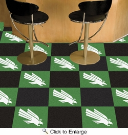 "Fan Mats 19703  University of North Texas Mean Green Team Carpet Tiles 18"" x 18"" tiles"