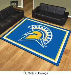 Fan Mats 19711  San Jose State University Spartans 8' x 10' Area Rug