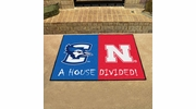 "Fan Mats 19729  Creighton Bluejays vs Nebraska Cornhuskers 33.75"" x 42.5"" House Divided Mat"