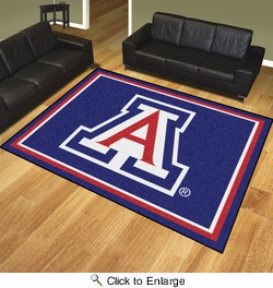 Fan Mats 20112  University of Arizona Wildcats 8' x 10' Area Rug