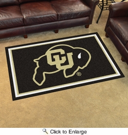 Fan Mats 20131  University of Colorado Buffaloes 4' x 6' Area Rug