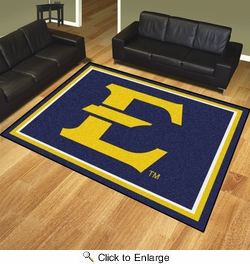 Fan Mats 20152  East Tennessee State University Buccaneers 8' x 10' Area Rug