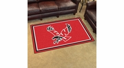 Fan Mats 20156  Eastern Washington University Eagles 4' x 6' Area Rug