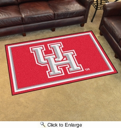 Fan Mats 20183  University of Houston Cougars 4' x 6' Area Rug
