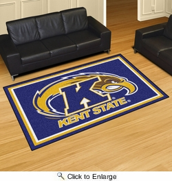Fan Mats 20194  Kent State University Golden Flashes 5' x 8' Area Rug