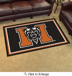 Fan Mats 20207  Mercer University Bears 4' x 6' Area Rug