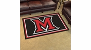 Fan Mats 20210  Miami University (OH) Redhawks 4' x 6' Area Rug