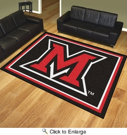 Fan Mats 20212  Miami University (OH) Redhawks 8' x 10' Area Rug