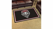 Fan Mats 20228  University of New Mexico Lobos 4' x 6' Area Rug