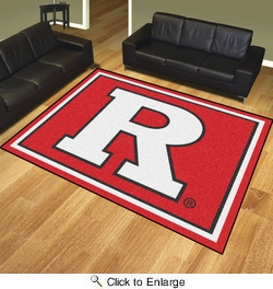 Fan Mats 20247  Rutgers University Scarlet Knights 8' x 10' Area Rug