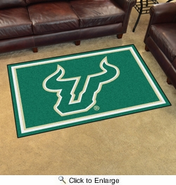Fan Mats 20257  University of South Florida Bulls 4' x 6' Area Rug