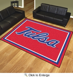 Fan Mats 20274  University of Tulsa Golden Hurricane 8' x 10' Area Rug