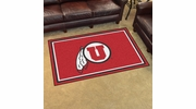 Fan Mats 20284  University of Utah Utes 4' x 6' Area Rug