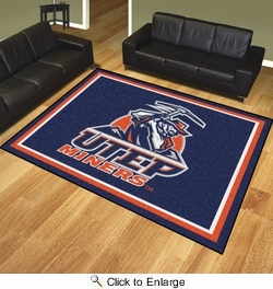 Fan Mats 20291  UTEP - University of Texas El Paso Miners 8' x 10' Area Rug