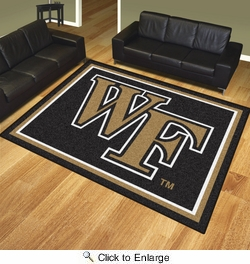 Fan Mats 20300  Wake Forest University Demon Deacons 8' x 10' Area Rug