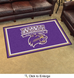 Fan Mats 20301  Western Carolina University Catamounts 4' x 6' Area Rug