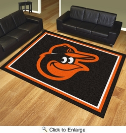 Fan Mats 20325  MLB - Baltimore Orioles 8' x 10' Area Rug