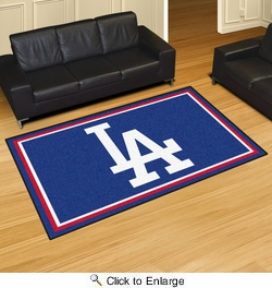 Fan Mats 20327  MLB - Los Angeles Dodgers 5' x 8' Area Rug