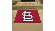 "Fan Mats 20335  MLB - St. Louis Cardinals 33.75"" x 42.5"" All Star Mat"