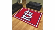 Fan Mats 20341  MLB - St. Louis Cardinals 8' x 10' Area Rug