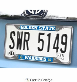 Fan Mats 20409  NBA - Golden State Warriors License Plate Frame