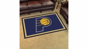 Fan Mats 20429  NBA - Indiana Pacers 4' x 6' Area Rug