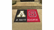 """Fan Mats 20502  North Carolina State Wolfpack vs Appalachian State Mountaineers 33.75"""" x 42.5"""" House Divided Mat"""