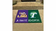 "Fan Mats 20504  LSU - Louisiana State Tigers vs Tulane Green Wave 33.75"" x 42.5"" House Divided Mat"